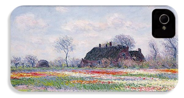 Tulip Fields At Sassenheim IPhone 4 / 4s Case by Claude Monet