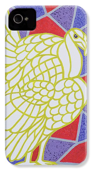 Turkey On Stained Glass IPhone 4 / 4s Case by Pat Scott