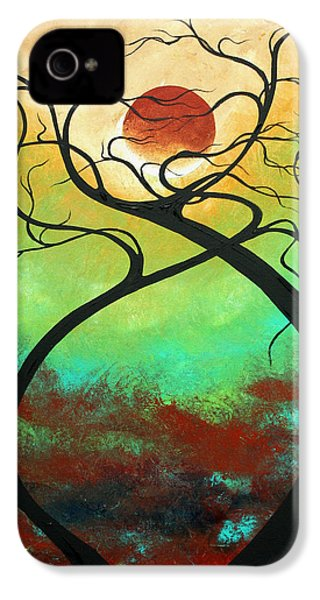 Twisting Love II Original Painting By Madart IPhone 4 / 4s Case by Megan Duncanson