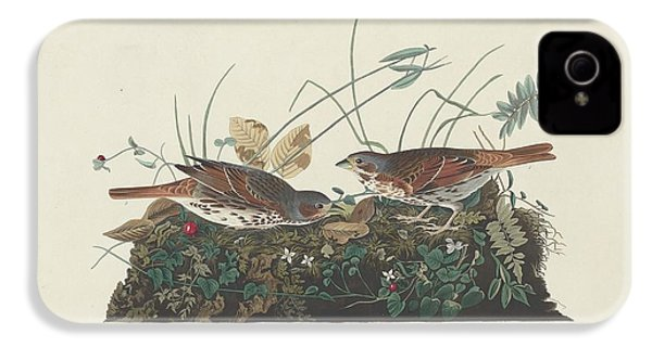 Two-colored Sparrow IPhone 4 / 4s Case by John James Audubon