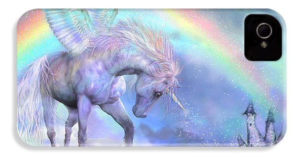 Unicorn Of The Rainbow IPhone 4 / 4s Case by Carol Cavalaris