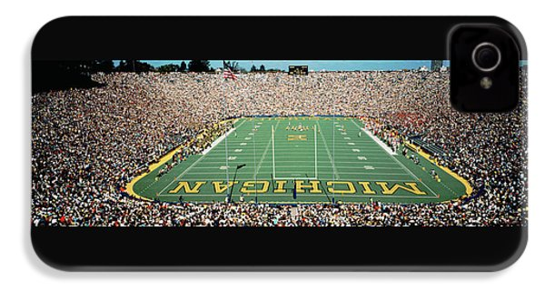 University Of Michigan Stadium, Ann IPhone 4 / 4s Case by Panoramic Images