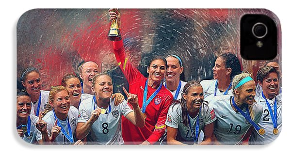 Us Women's Soccer IPhone 4 / 4s Case by Semih Yurdabak