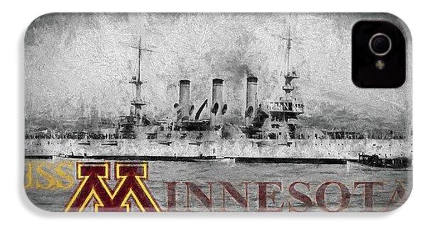 Uss Minnesota IPhone 4 / 4s Case by JC Findley
