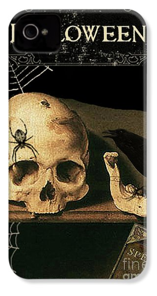 Vanitas Skull And Raven IPhone 4 / 4s Case by Striped Stockings Studio