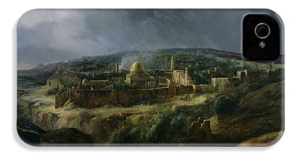 View Of Jerusalem From The Valley Of Jehoshaphat IPhone 4 / 4s Case by Auguste Forbin