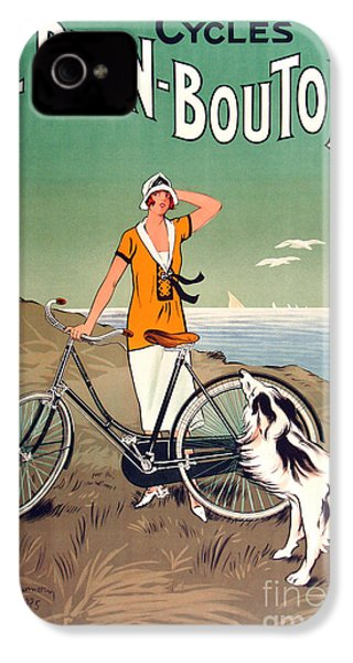 Vintage Bicycle Advertising IPhone 4 / 4s Case by Mindy Sommers