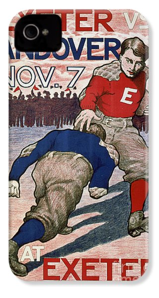 Vintage College Football Exeter Andover IPhone 4 / 4s Case by Edward Fielding