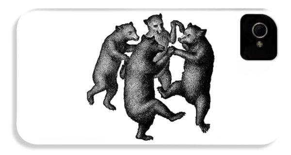Vintage Dancing Bears IPhone 4 / 4s Case by Edward Fielding