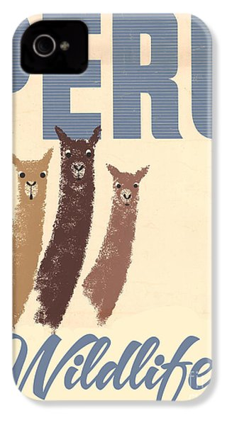 Vintage Wild Life Travel Llamas IPhone 4 / 4s Case by Mindy Sommers