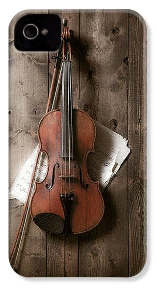 Violin IPhone 4 / 4s Case by Garry Gay