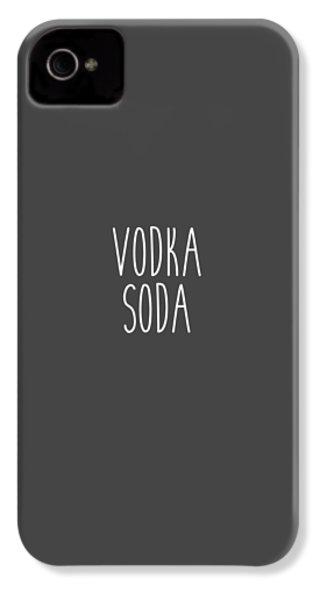Vodka Soda IPhone 4 / 4s Case by Cortney Herron