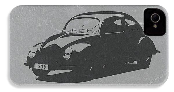 Vw Beetle IPhone 4 / 4s Case by Naxart Studio