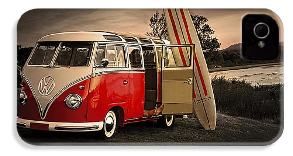 Vw Bus Sufrboard Beach Collection IPhone 4 / 4s Case by Marvin Blaine