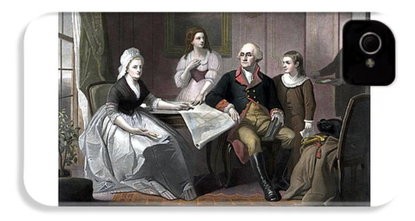 Washington And His Family IPhone 4 / 4s Case by War Is Hell Store