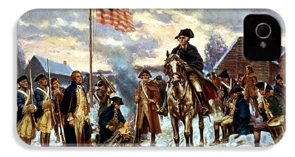 Washington At Valley Forge IPhone 4 / 4s Case by War Is Hell Store