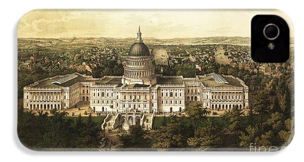 Washington City 1857 IPhone 4 / 4s Case by Jon Neidert