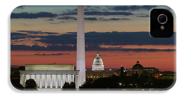 Washington Dc Landmarks At Sunrise I IPhone 4 / 4s Case by Clarence Holmes