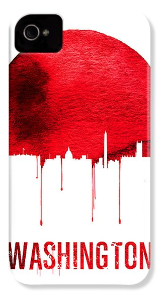 Washington Skyline Red IPhone 4 / 4s Case by Naxart Studio