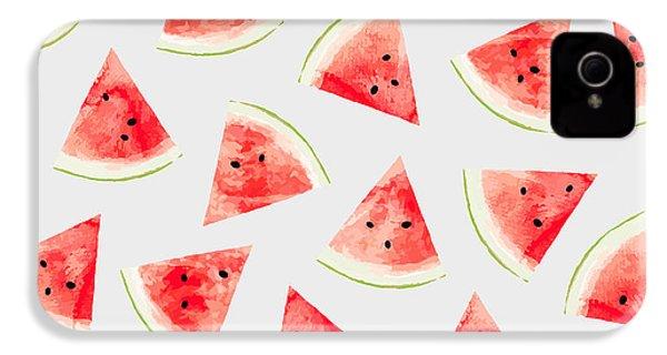 Watercolor Watermelon Pattern IPhone 4 / 4s Case by Uma Gokhale