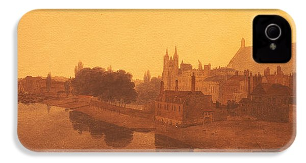 Westminster Abbey  IPhone 4 / 4s Case by Peter de Wint