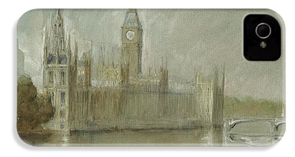 Westminster Palace And Big Ben London IPhone 4 / 4s Case by Juan Bosco