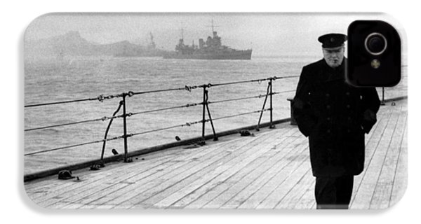 Winston Churchill At Sea IPhone 4 / 4s Case by War Is Hell Store