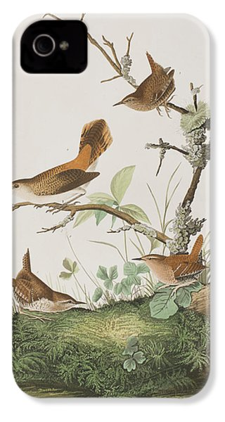 Winter Wren Or Rock Wren IPhone 4 / 4s Case by John James Audubon