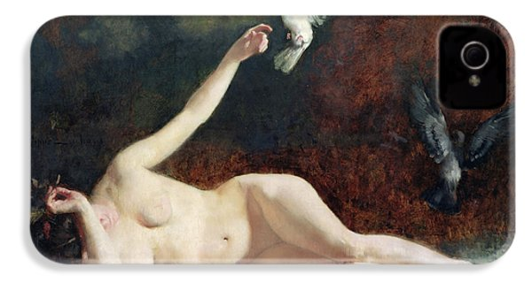 Woman With Pigeons IPhone 4 / 4s Case by Ernst Philippe Zacharie