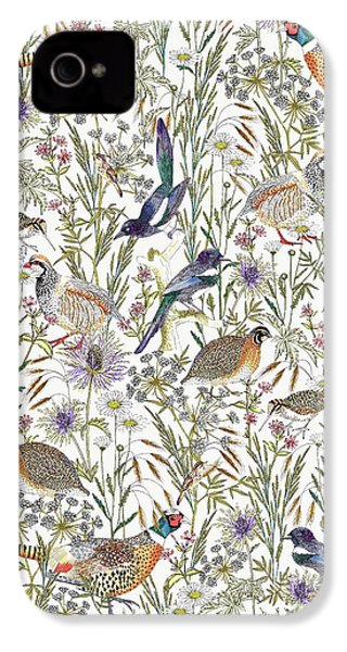 Woodland Edge Birds IPhone 4 / 4s Case by Jacqueline Colley