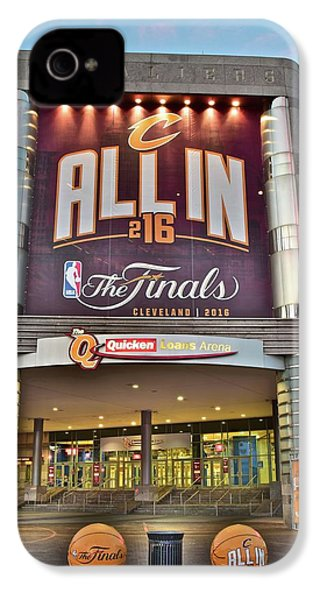 World Champion Cleveland Cavaliers IPhone 4 / 4s Case by Frozen in Time Fine Art Photography