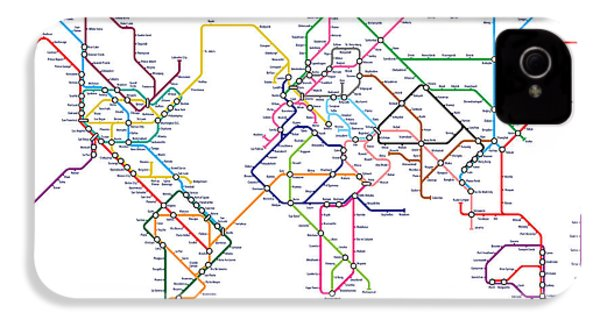 World Metro Tube Map IPhone 4 / 4s Case by Michael Tompsett