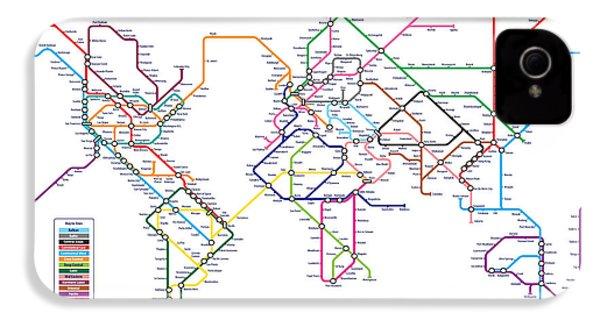 World Metro Tube Subway Map IPhone 4 / 4s Case by Michael Tompsett