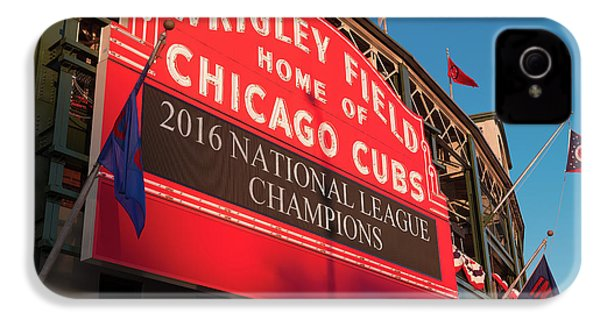 Wrigley Field Marquee Angle IPhone 4 / 4s Case by Steve Gadomski