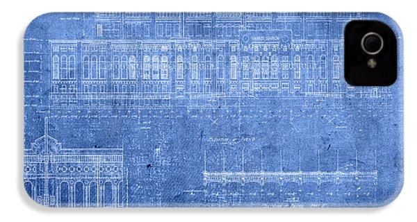 Yankee Stadium New York City Blueprints IPhone 4 / 4s Case by Design Turnpike