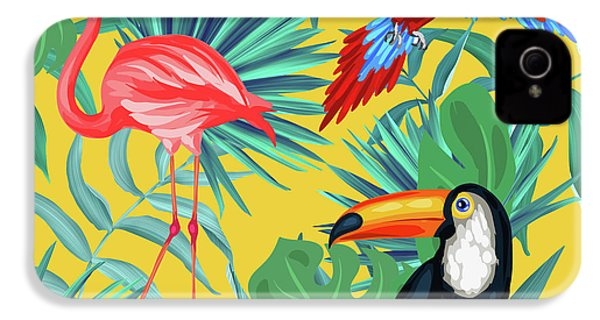 Yellow Tropic  IPhone 4 / 4s Case by Mark Ashkenazi