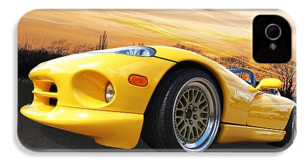 Yellow Viper Rt10 IPhone 4 / 4s Case by Gill Billington