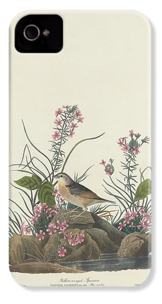 Yellow-winged Sparrow IPhone 4 / 4s Case by John James Audubon