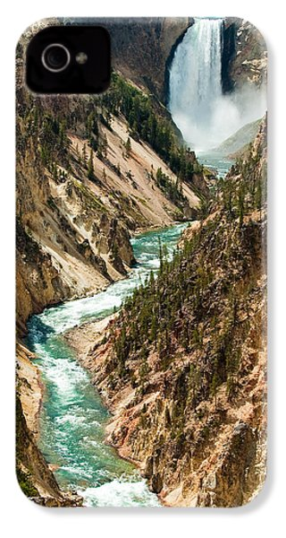 Yellowstone Waterfalls IPhone 4 / 4s Case by Sebastian Musial