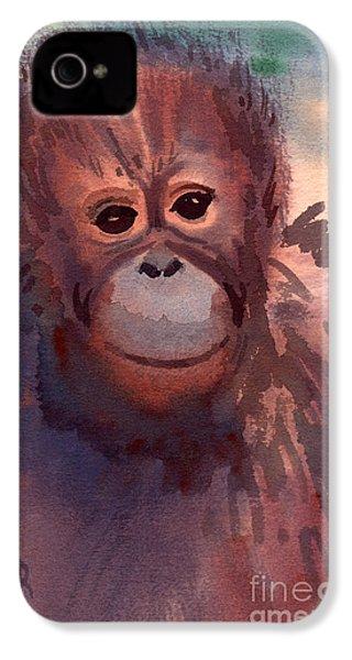 Young Orangutan IPhone 4 / 4s Case by Donald Maier