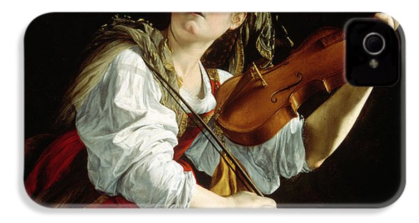 Young Woman With A Violin IPhone 4 / 4s Case by Orazio Gentileschi