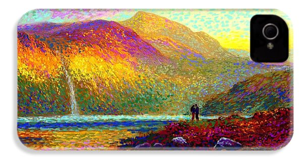Your Love Colors My World, Modern Impressionism, Romantic Art IPhone 4 / 4s Case by Jane Small