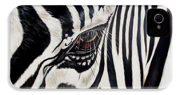 Zebra Eye IPhone 4 / 4s Case by Ilse Kleyn