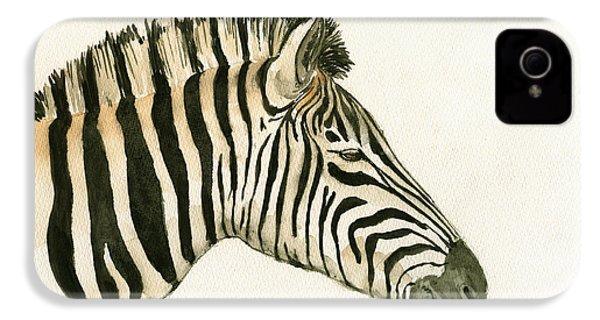 Zebra Head Study Painting IPhone 4 / 4s Case by Juan  Bosco