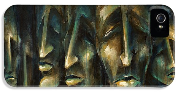 Face iPhone 5 Cases -   Jury of Eight  iPhone 5 Case by Michael Lang