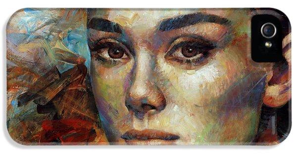 Audrey Hepburn IPhone 5 / 5s Case by Arthur Braginsky