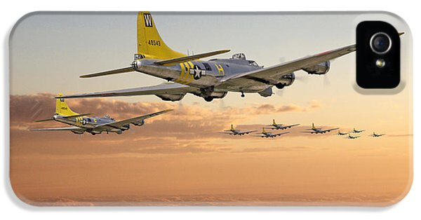 Usaf iPhone 5 Cases -  B17 - 486th BG - Homeward iPhone 5 Case by Pat Speirs