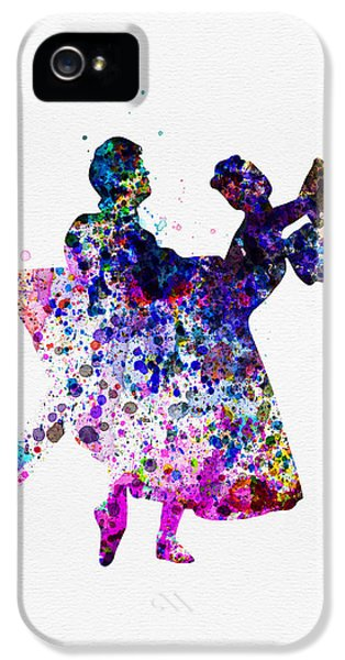 Beautiful Dancer iPhone 5 Cases -  Ballet Dancers Watercolor 1 iPhone 5 Case by Naxart Studio