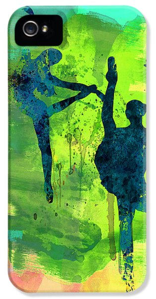 Beautiful Dancer iPhone 5 Cases -  Ballet Watercolor 1 iPhone 5 Case by Naxart Studio
