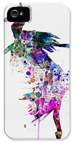 Beautiful Dancer iPhone 5 Cases -  Ballet Watercolor 3 iPhone 5 Case by Naxart Studio